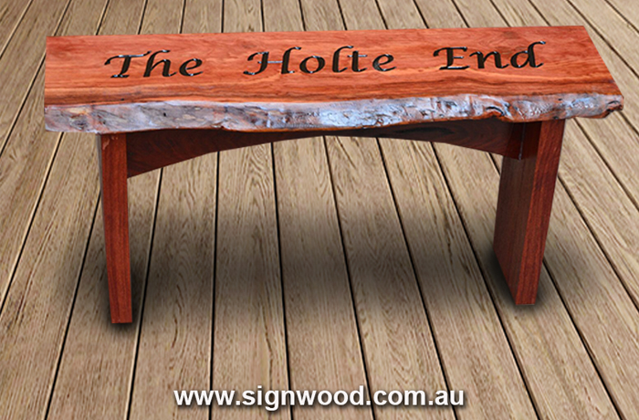 the holte end wooden bench