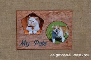 double pet wooden frame