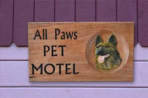 pet motel wooden
