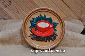coffee wood carving