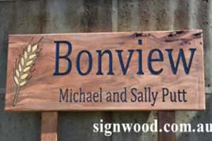 bonview wood sign