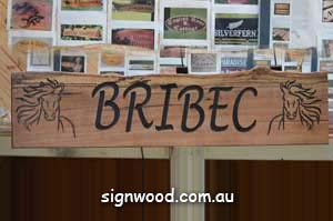 bribec wood sign
