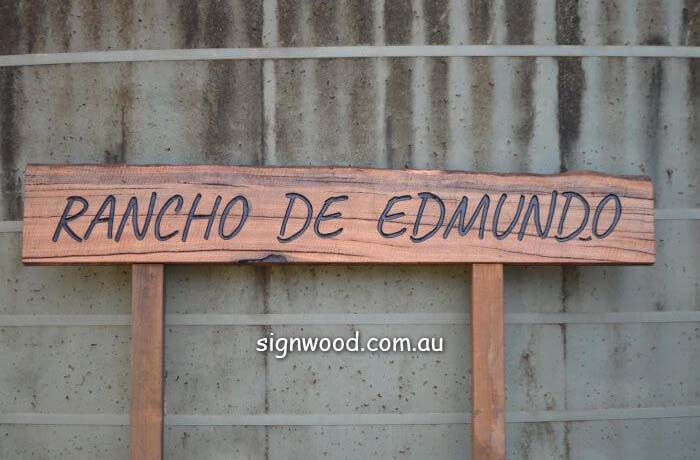 rancho wood sign