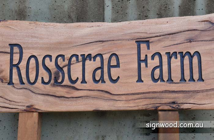 rosscrae farm rustic wood sign