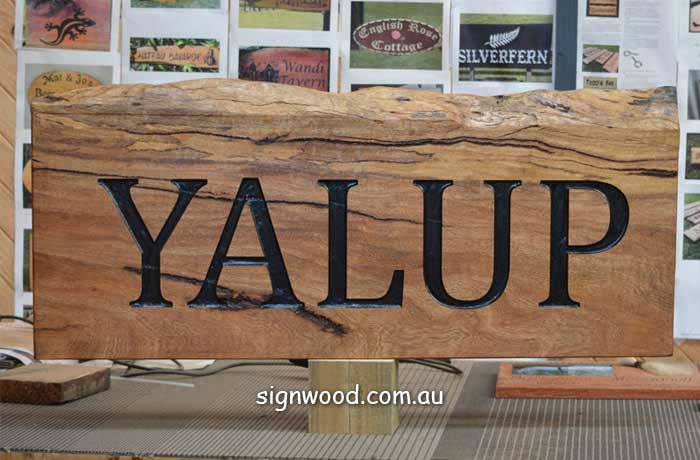 yalup wood sign