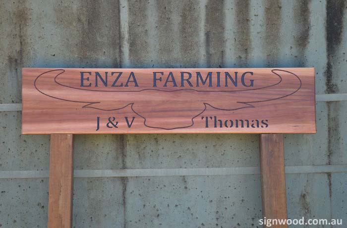 enza framing wood sign