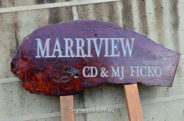 marriview wood sign