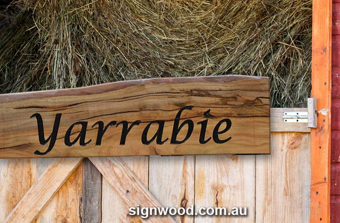 yarrabie wood sign