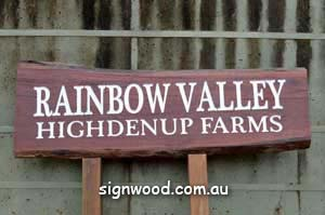 rainbow valley wood sign