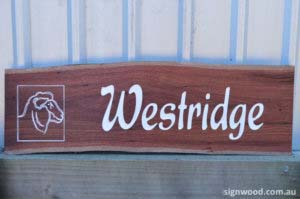 westridge wood sign