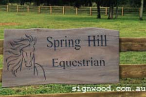 Spring Hill Equestrian Wood Sign